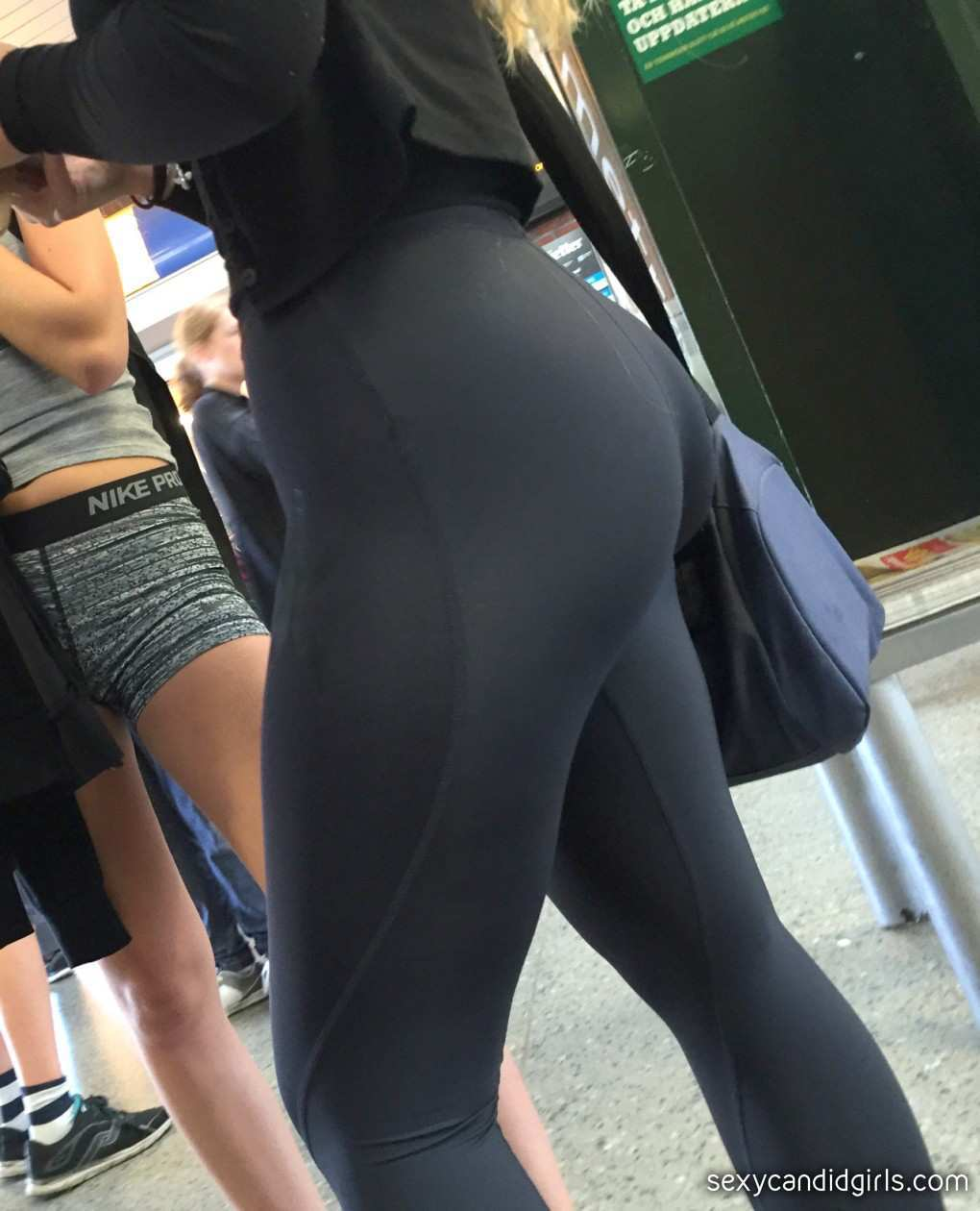Spandex Leggings Creepshot Blonde - Sexy Candid Girls With -3453