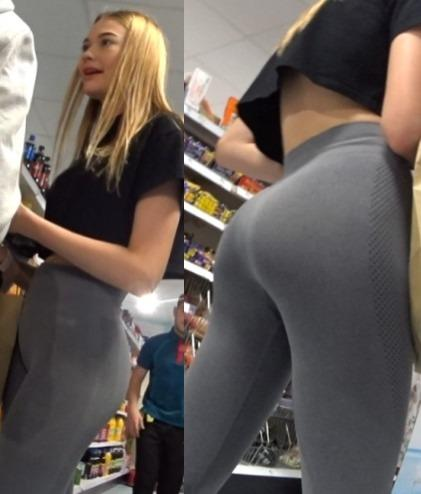 See Through Leggings Candid